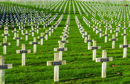In de dag Begraafplaats Cemetery world war one in France Vimy La Targette