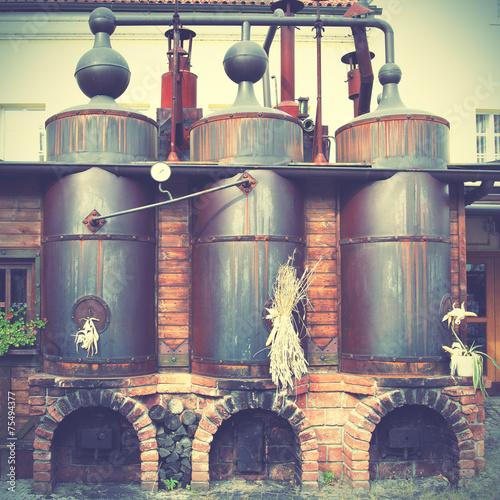 Fotobehang Praag Old brewery