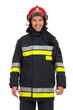 Portrait of smiling fireman. - 75494786