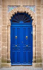 Blue door in Essaouira, Morocco