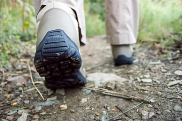 back of trekking boots