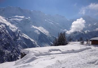 Skifahren in Mürren