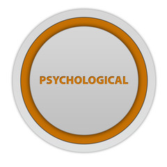 Psychological circular icon on white background