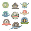 University Emblems And Symbols - Isolated  Vector Illustration,