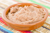 Frijoles Refritos - Bowl of Mexican refried beans