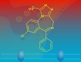 Alprazolam molecular structure