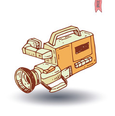 camcorder icon, vector illustration