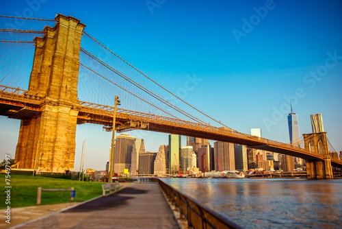 Poster New York,Brooklyn Bridge,