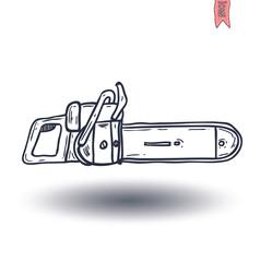 chainsaw, vector illustration.