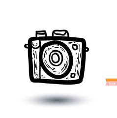 Vintage camera icon, vector illustration