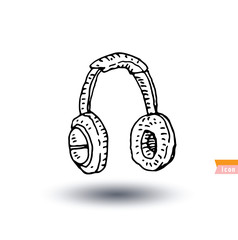 Headphone , hand drawn illustration.