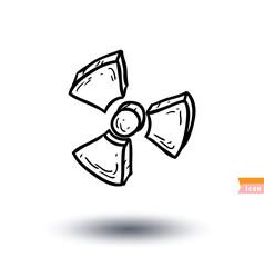 nuclear icon - vector illustration