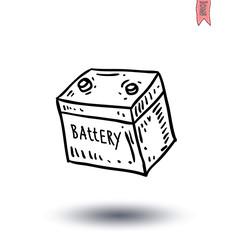 battery icon - vector illustration