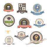 Fototapety University, college and academy heraldic emblems logo