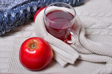 Winterzeit Wolle Strick Tee warm