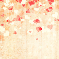 Grunge lovely heart background