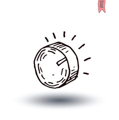 volume button icon, vector illustration