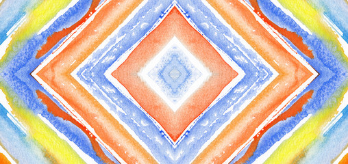 Abstract background rhombus watercolor