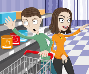 Vector illustration. Shopping.
