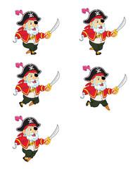 Old Pirate Running Sprite