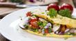 Leinwanddruck Bild - Vegetable Omelette