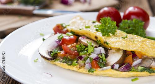 Leinwanddruck Bild Vegetable Omelette