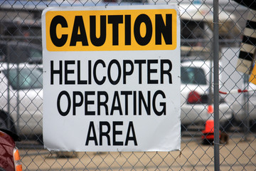 Helicopter area sign