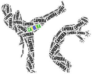 Capoeira fighters.