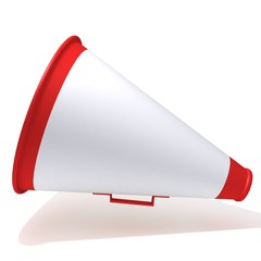 Megaphone 3d illustration