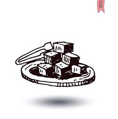 cubes of sugar, Vector illustration.