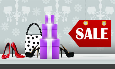 Women purchase, shopping