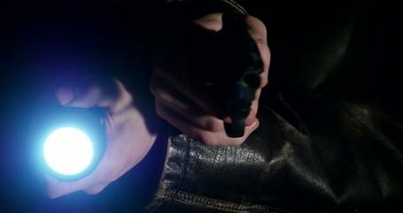 4K - Detective investigates a crime