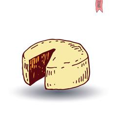 Cheese, Vector illustration.