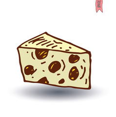 Cheese, Vector illustration.