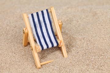Liegestuhl Sand
