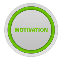 Motivation circular icon on white background