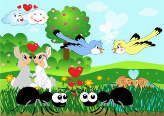animal in love