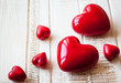 canvas print picture - Red hearts