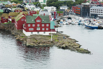 Thorshavn in Faroe Islands