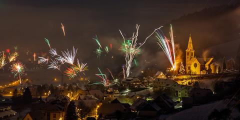 Feuerwerk in Fischerbach