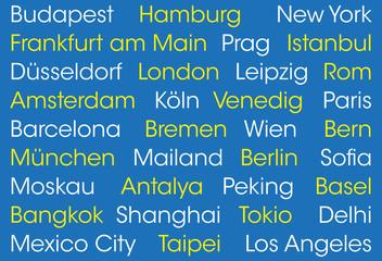 Bekannte Weltstädte