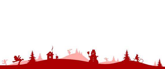 Winterlandschaft rot