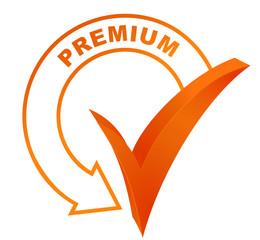 premium symbol validated orange