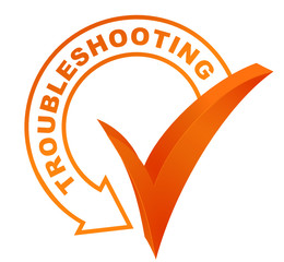 troubleshooting symbol validated orange