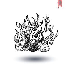 Fire flame icon, vector illustration