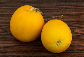 Small yellow melon