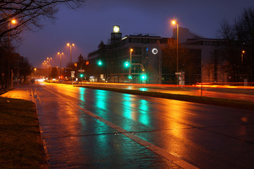 Straße in der Nacht