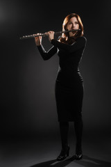 Flute music performer woman flutist
