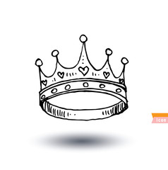 crown, hand drawn vector.