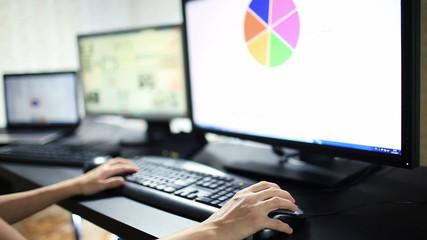 Woman Work at Computer
